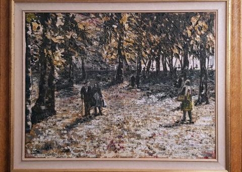 Ai giardini pubblici (RE) dic '96 - olio su tela 60x80 cm (1996)