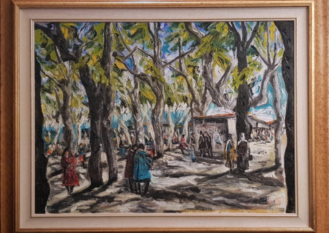 Ai giardini pubblici (RE) ott '96 - olio su tela 60x80 cm (1996)