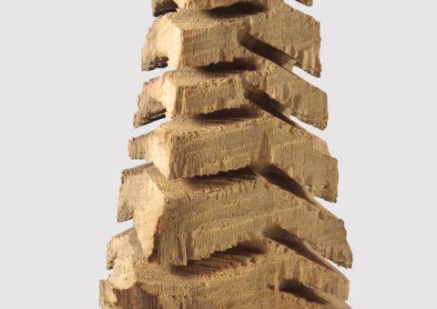 Albero medio 14x36 cm - scultura su legno