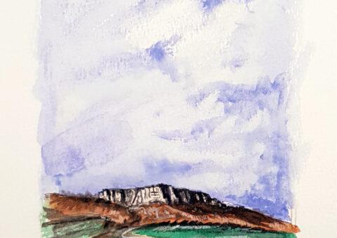 Ancora dal Monte - acquarello su cartone 18x26 cm