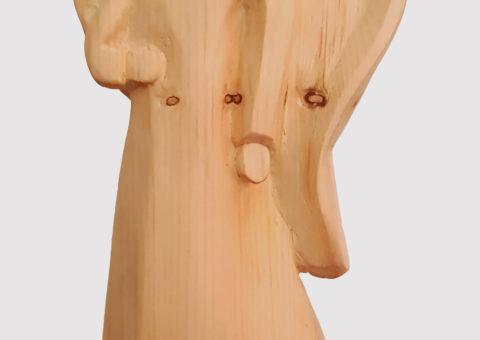 Angelo - scultura su pino cembro 30x12x6 cm