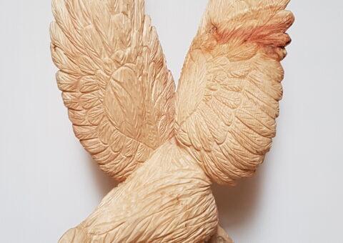 Aquila - scultura su cirmolo 70x30x30 cm