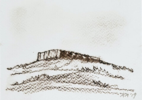 Cartolina carboncino 1 - 14,5x10,5 cm