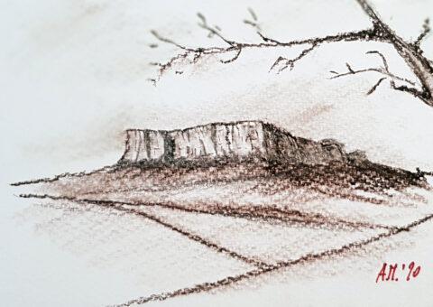 Cartolina carboncino 3 - 14,5x10,5 cm