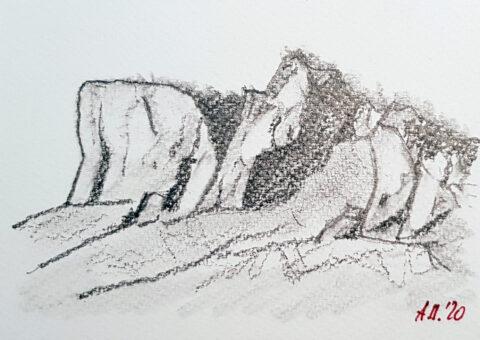 Cartolina matita 2 - 14,5x10,5 cm