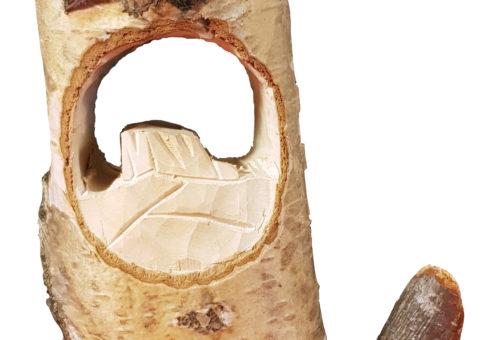 Betulla di Pietra 1 - scultura su betulla 22x12,5x7 cm