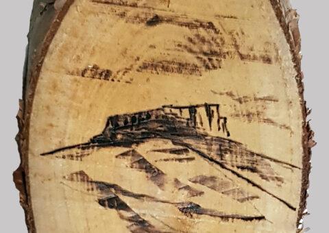 Pietra pirografo 1 - pirografo su betulla 16x8 cm