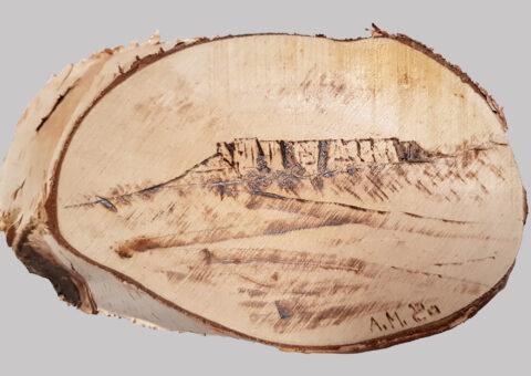 Pietra pirografo 4 - pirografo su betulla 9,5x16,5 cm