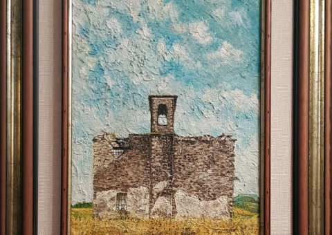 San Giovanni di Felina - olio su tela di iuta 30x50 cm (1998)