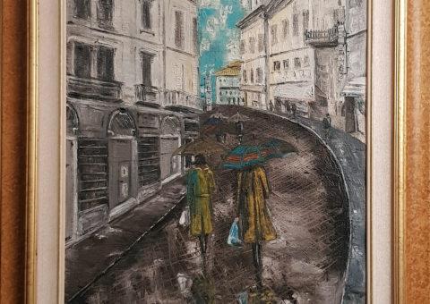 Via Crispi - olio su tela  50x70 cm (1997)
