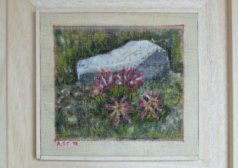 di rientro al Carestiato (Moiazza) - olio su tela 18x20 cm