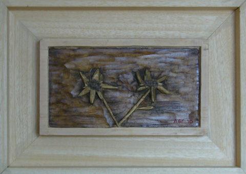 stars - bassorilievo su cirmolo 21x12 cm