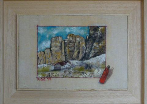 alla Ferrata Tridentina - olio su tela 30x20 cm