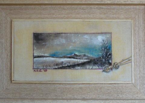 scendendo dall'Alpe di Succiso - olio su tela 30x15 cm