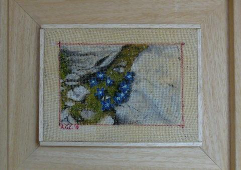 alla Dibona (Pordoi) - olio su tela 19x13 cm