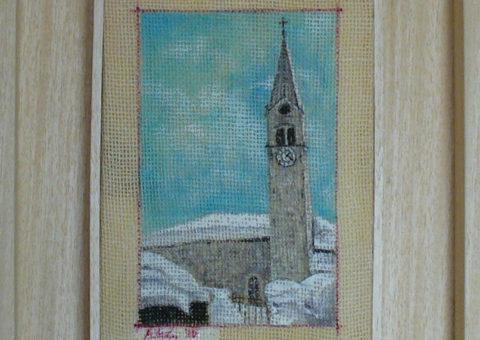 Gressoney - olio su tela 13x20 cm