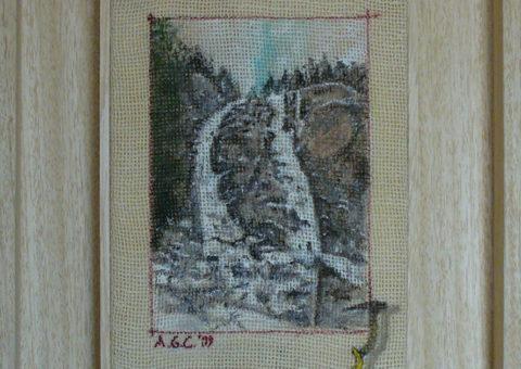 le Regine del Lago (Val Daone) - olio su tela 15x20 cm