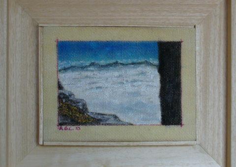 dallo Stradone Provinciale (Brenta) - olio su tela 20x15 cm