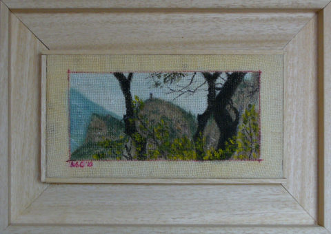 Colodri (Arco di Trento) - olio su tela 25x13 cm
