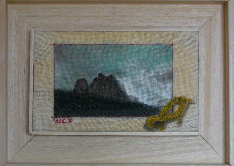 le Torri del Sella  - olio su tela 25x15 cm