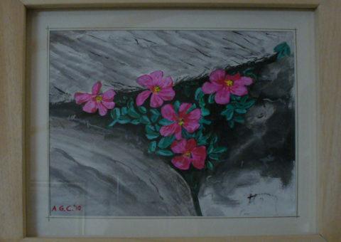 al Pizzini (Ortles-Cevedale) - acquarello su cartone 24x19,5 cm