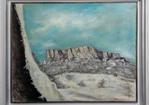 dalla Bismantova ! - olio su tela 50x40 cm