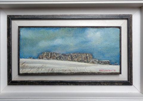 Casale - olio su tela 30x14 cm