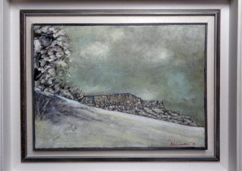 Nevicata - olio su tela 42x30 cm