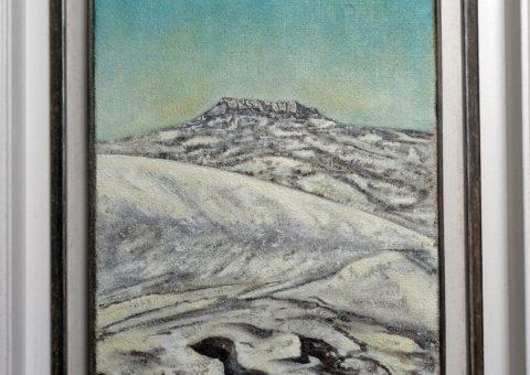 Nevicata da Minozzo - olio su tela 30x46 cm