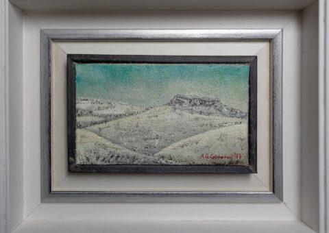 Villaberza - olio su tela 20x12 cm