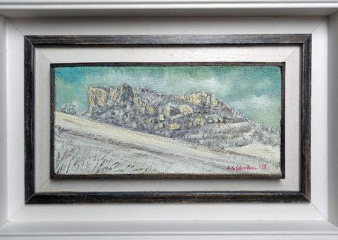 Campolungo - olio su tela 30x14 cm