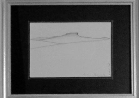 Profili: Sparavalle - carboncino su cartone 21x15 cm