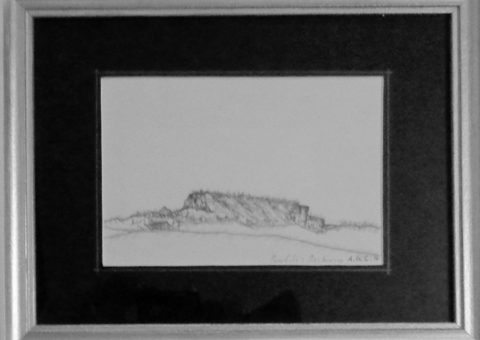 Profili: Macchiusa - carboncino su cartone 21x15 cm