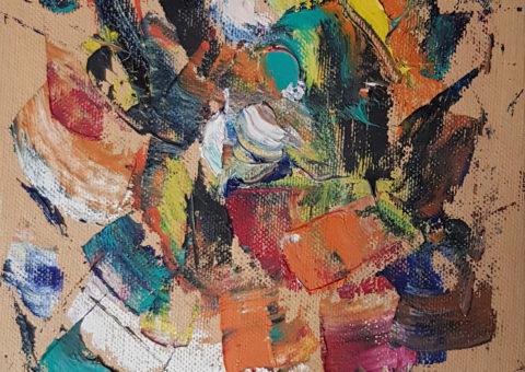 Astratto - olio su tela 18x24 cm