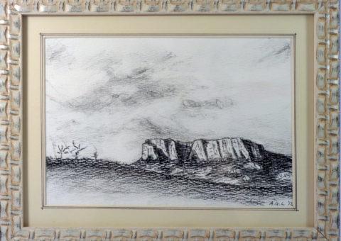 Bianco e Nero - carboncino su cartone 26x18 cm