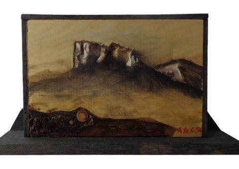 Di Legno di Pietra - olio su legno 18x12 cm