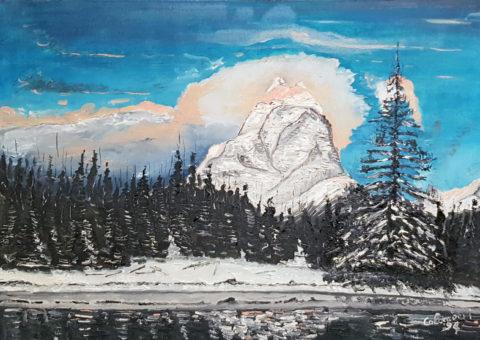 Paesaggio alpino - olio su tela 50x35 cm