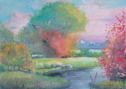 Primavera - olio su tela 50x40 cm