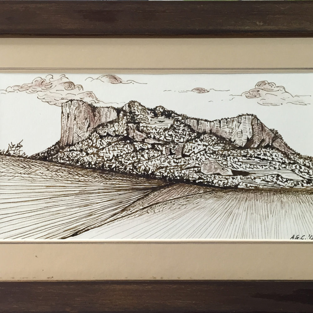.... dalla Sassaia - china su cartone 25x13,5 cm