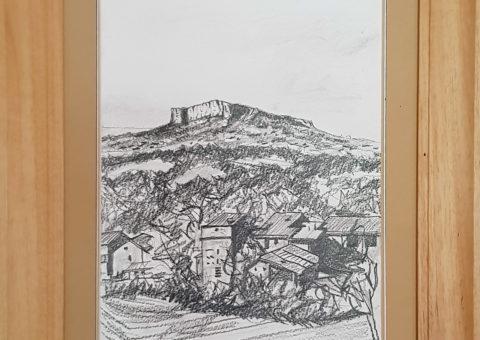 Saccaggio - carboncino su cartone  23x30,5 cm