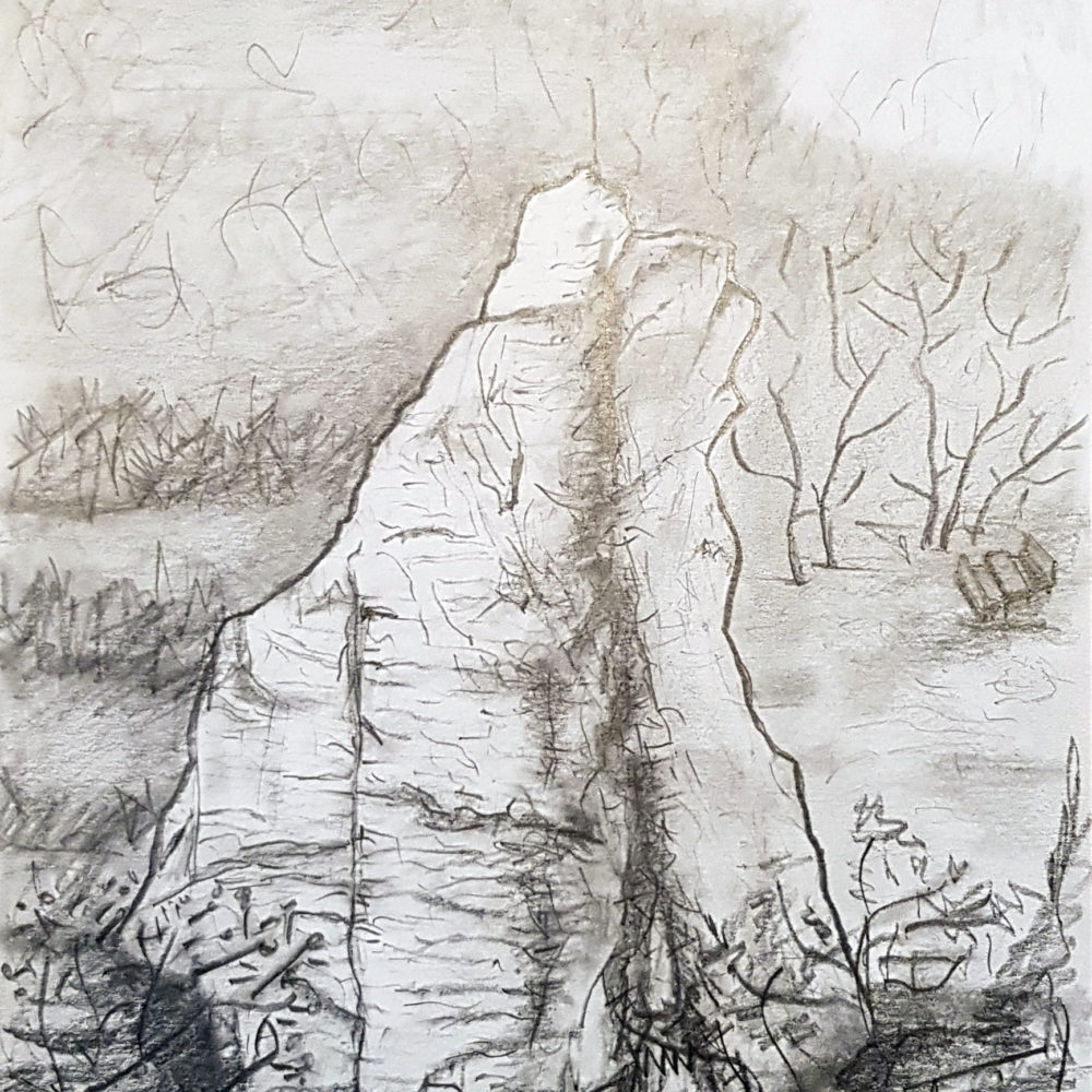 Sassolungo - carboncino 21x30cm