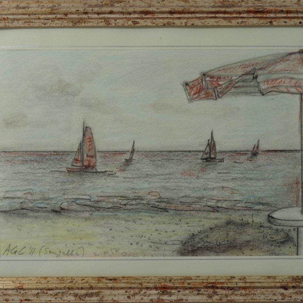 Senigallia - pastello su cartone 21x15 cm