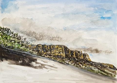Temporale - acquarello su cartone 30x23 cm