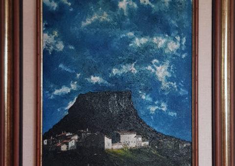 Carnola '98 - olio su tela di iuta 40x50 cm (1998)