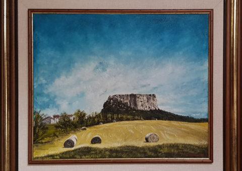 Carnola '99 - olio su tela di iuta 50x60 cm (1999)