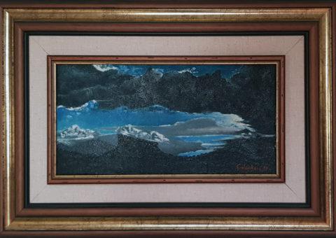 Fariolo - olio su tela di iuta 20x40 cm (1999)