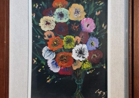 Mazzo di fiori - olio su legno 16,5x22 cm (1993)