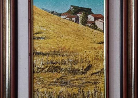 Villa Berza - olio su tela di iuta 25x40 cm (1998)