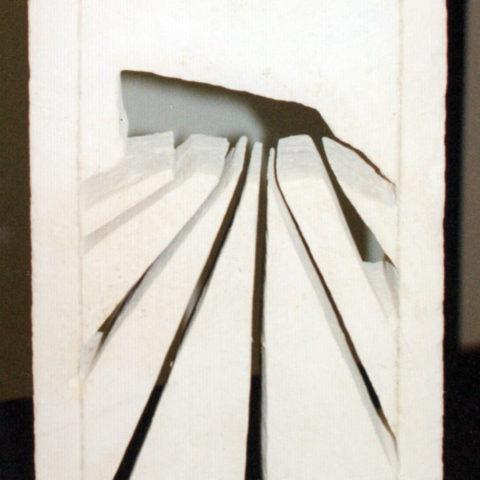 Raggio di Pietra - scultura su tufo (Matera) 27x52x15 cm