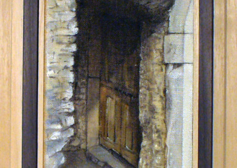 Via Portici, Dro (TN) - olio su tela 13x25 cm